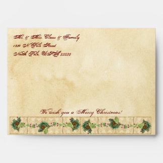 Nature's Christmas Magnolia Wreath n Pine Boughs Envelopes