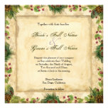 Nature's Christmas Magnolia Wreath n Pine Boughs Invitations