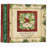 Nature's Christmas Magnolia Wreath Scrapbook Photo Binders