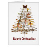 Nature's Christmas Tree- Dragonflies Card