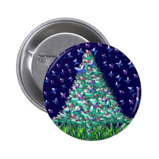 Natures Christmas Tree Pinback Button