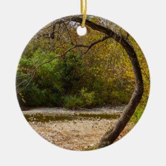 Natures Circle Ceramic Ornament