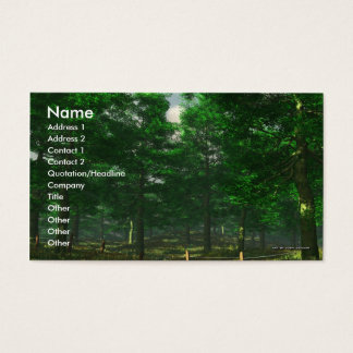 Nature's Clarity Business Card Template