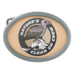Nature's Clean Up Crew Oval Belt Buckles