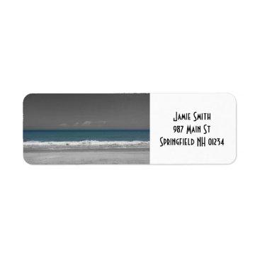 Beach Themed Nature's Color: Ocean Return Address Labels