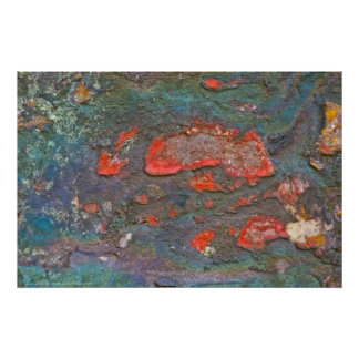 Nature's Colorful Rock Painting Poster