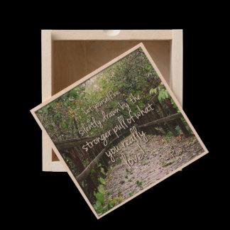 Nature's Folio DAILY INSPIRATIONS Gift Ideas . . . Wooden Keepsake Box