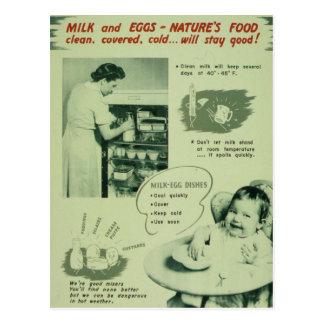 Nature's Food - Vintage Postcard