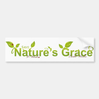 Nature's Grace with Ladybug Bumper Sticker