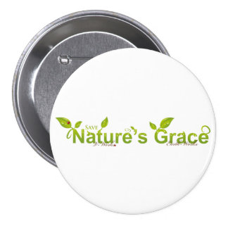Nature's Grace with Ladybug Pinback Button