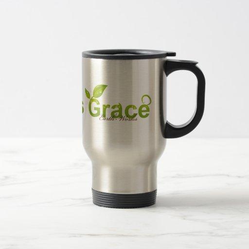 Nature's Grace with Ladybug 15 Oz Stainless Steel Travel Mug