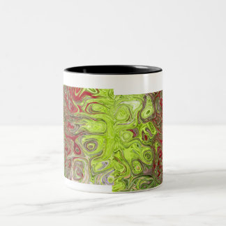 Nature's Green & Reds Two-Tone Coffee Mug