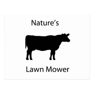 Nature's lawn mower postcard