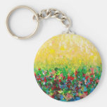 NATURE'S LIVING ROOM BASIC ROUND BUTTON KEYCHAIN