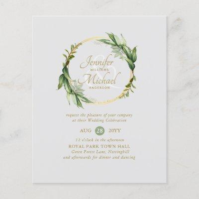 Natures Love Greenery Wreath Wedding