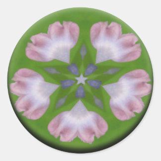 Nature's Love Mandala Classic Round Sticker