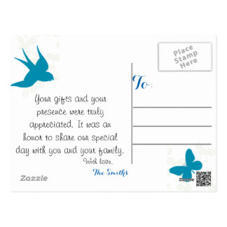 Natures Love Wedding Thank You Postcards