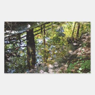 Nature's mirror rectangle sticker