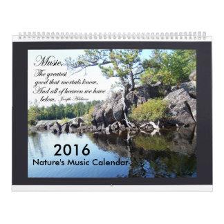 Nature's Music 2016 Calendar