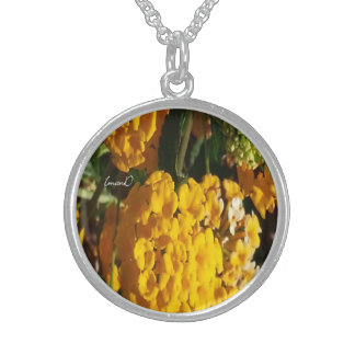 Nature's Orange Delight...Sterling Silver Necklace