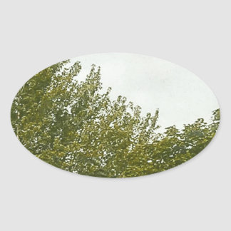 Natures Painting Oval Sticker