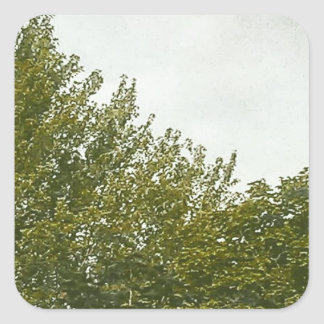 Natures Painting Square Sticker