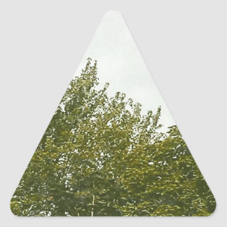 Natures Painting Triangle Sticker