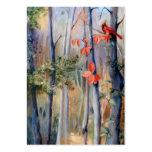 Natures Path Cardinal Art Card Large Business Cards (Pack Of 100)