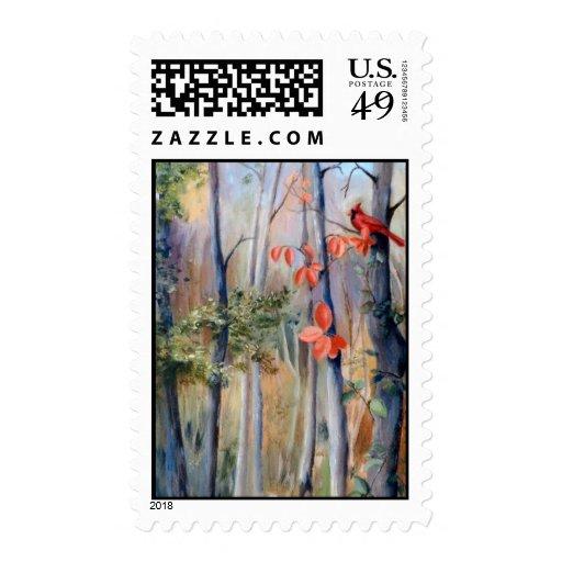 Natures Path Cardinal Postage Stamps