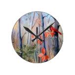 Natures Path Cardinal Round Clocks