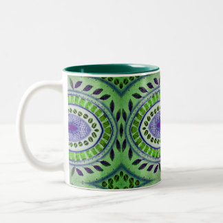 Natures pattern abstract design Two-Tone coffee mug