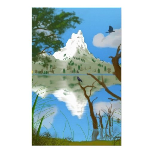 Natures Reflections Personalized Stationery
