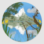Natures Reflections Round Sticker