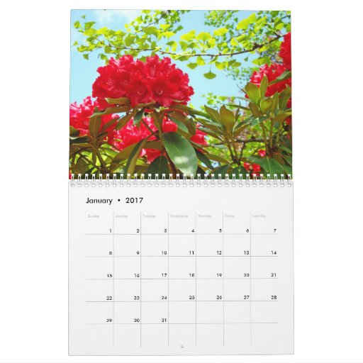 Nature's Rhododendron Flower Landscape Calendars