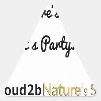 Nature's Soldiers Slogan 1 Triangle Sticker