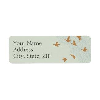 Natures Splendor Ecru Anniversary Return Address Label