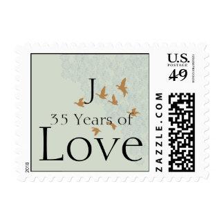 Natures Splendor on Ecru Anniversary Love Stamp