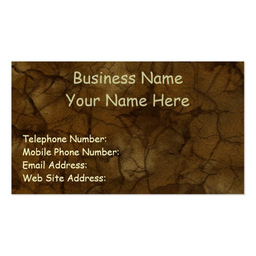 NATURE'S TEXTURES Amber Business & Profile Cards