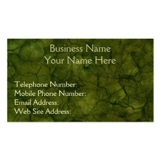 NATURE'S TEXTURES Green Business & Profile Cards Business Card