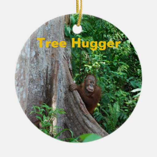 Nature's Tree Hugger Christmas Tree Ornaments