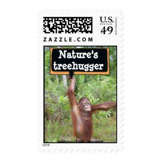 Nature's treehugger postage