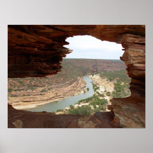 Nature's Window in Kalbarri national park Poster