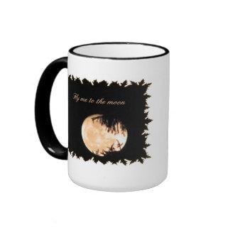 Nature's window Moon Mug, Ringer Coffee Mug