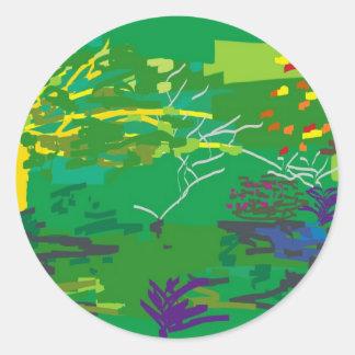 naturescape classic round sticker