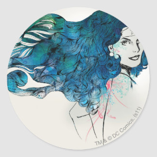 Naturess Design 5 Classic Round Sticker