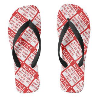 Naturist Flip Flops