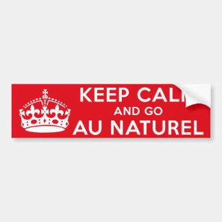 Naturist / Nudist Bumper Sticker