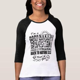 Naturist/Nudist Girls T-shirt