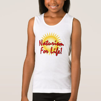 Naturist/Nudist girls Tank Top