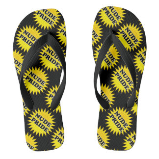 Naturist / Nudist Pride Flip Flops